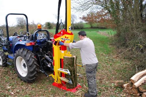fendeuse thermique bois buches chauffage fendage 1m pour micro tracteur forêt