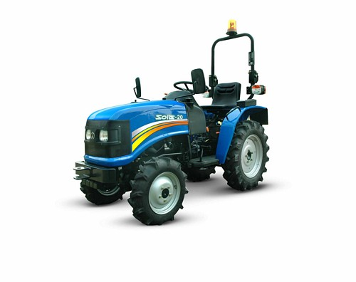 Tracteur compact Solis 20 quatre routes motrices attelage prise de force